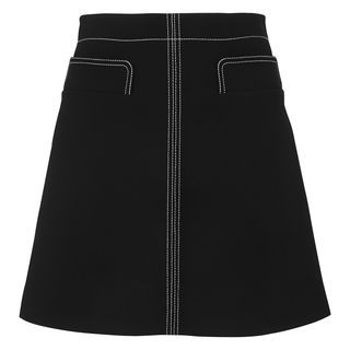 Rita Contrast Stitch Skirt, in Black on Whistles