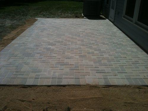 Brick Paving Unilock Hollandstone River Color Patio