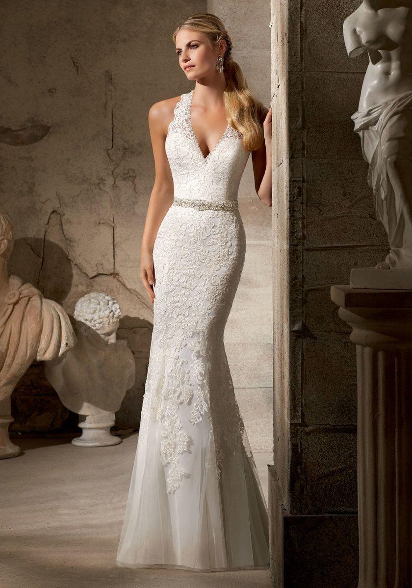 Mori lee madeline gardner wedding dress  Mori Lee Wedding Dress  Ivory Size   Wedding ideas