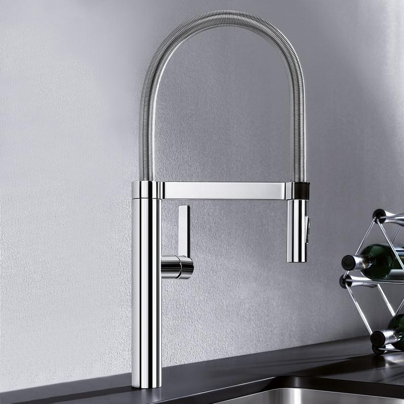 Blanco Culina-S single lever mixer, projection 220 mm, pullout - küchenarmaturen mit schlauchbrause