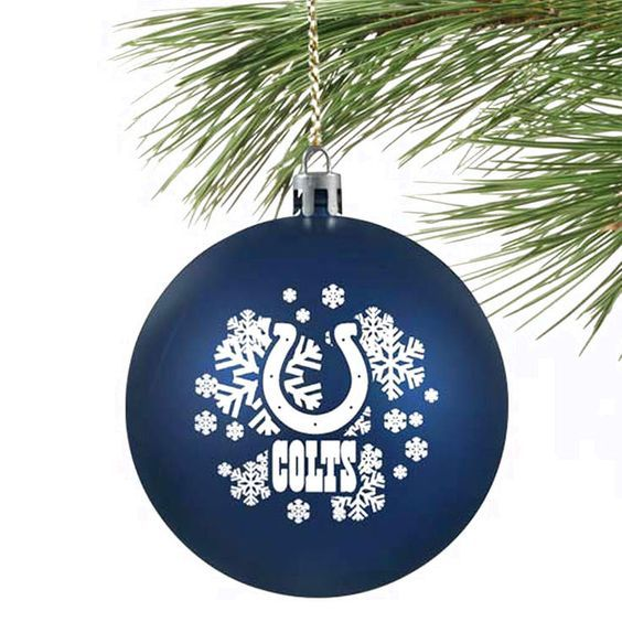NFL Indianapolis Colts Shatterproof Ornament