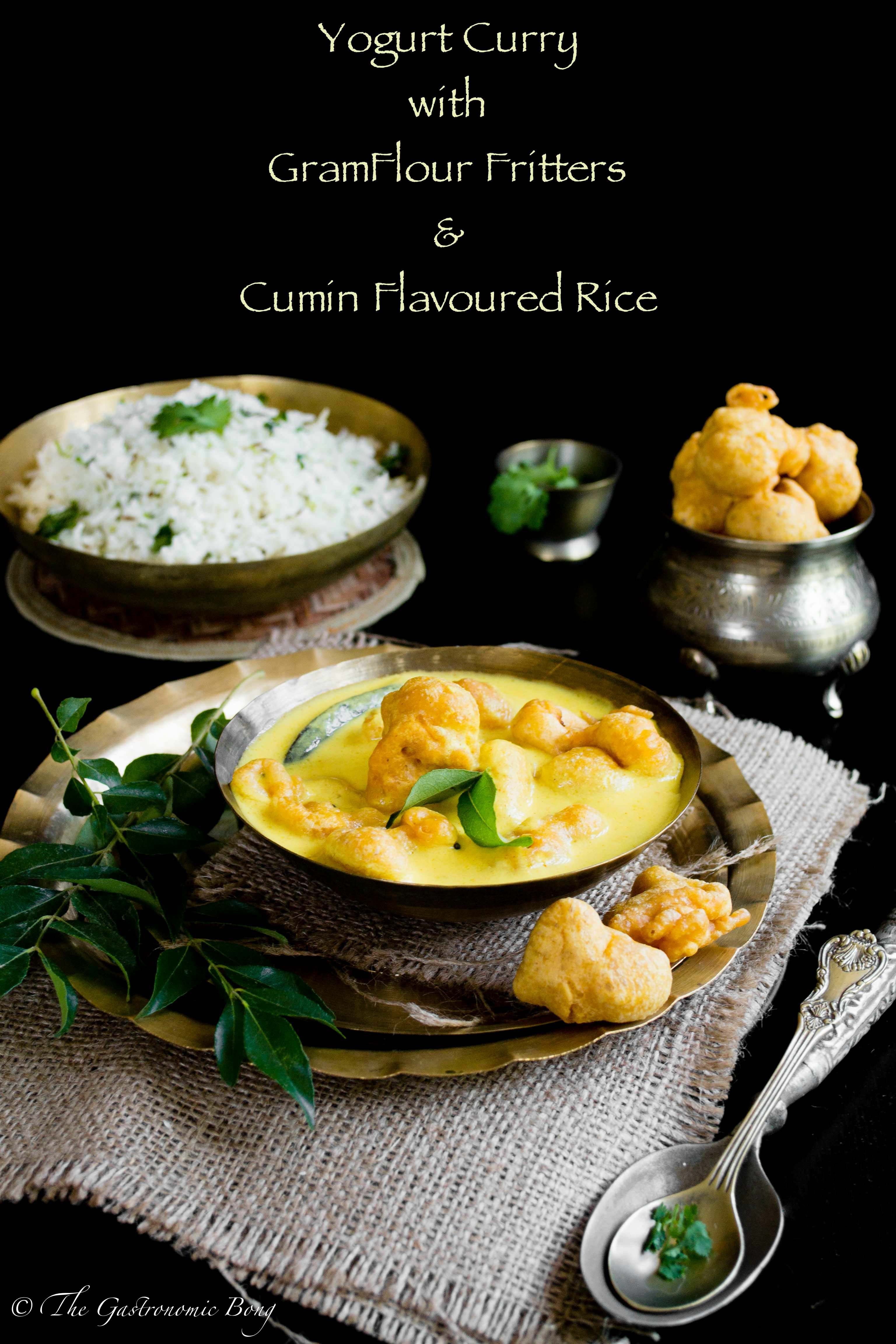 Yogurt curry with gramflour fritters and cumin rice kadhi pakora yogurt curry with gramflour fritters and cumin rice kadhi pakora and jeera rice forumfinder Images