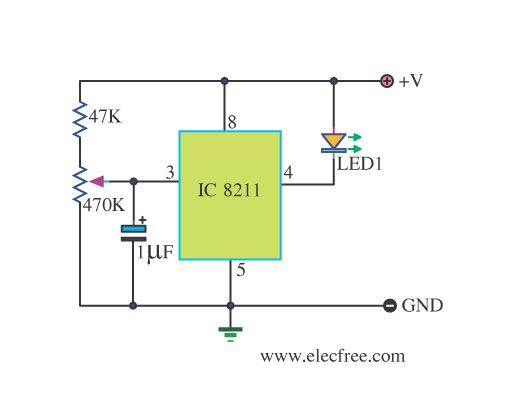 battery low voltage alarm indicator circuits electronic circuitbattery low voltage detector using ic 8211