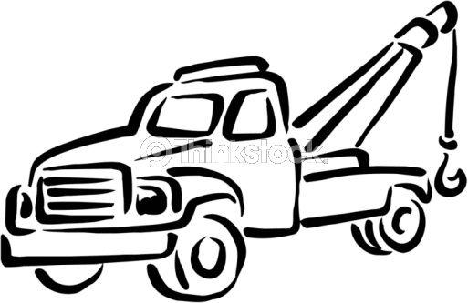 tow truck clip art tow truck vector art 88344431 thinkstock rh pinterest ca flatbed tow truck clip art flatbed tow truck clip art free
