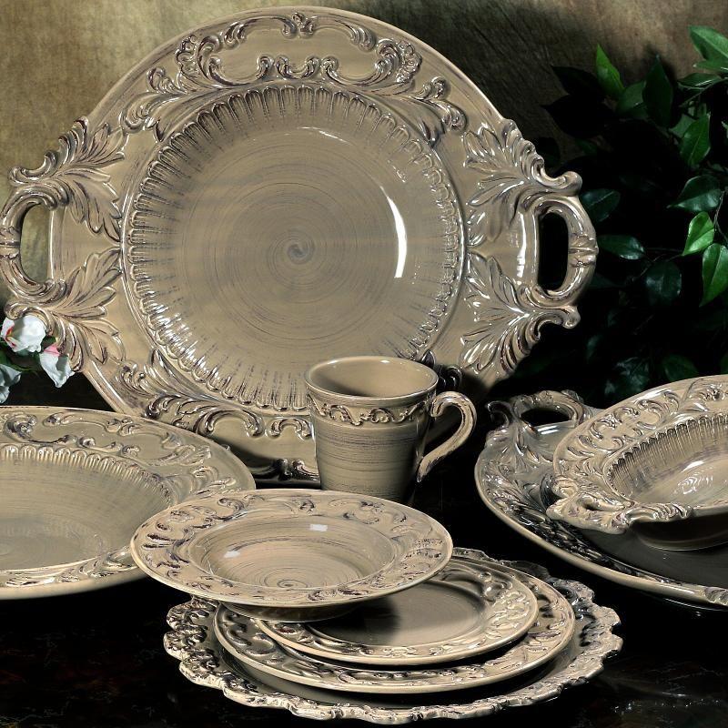 Tuscan style · BAROQUE TAUPE Italian Dinnerware (Rustic Italian Cottage) & BAROQUE TAUPE Italian Dinnerware (Rustic Italian Cottage ...