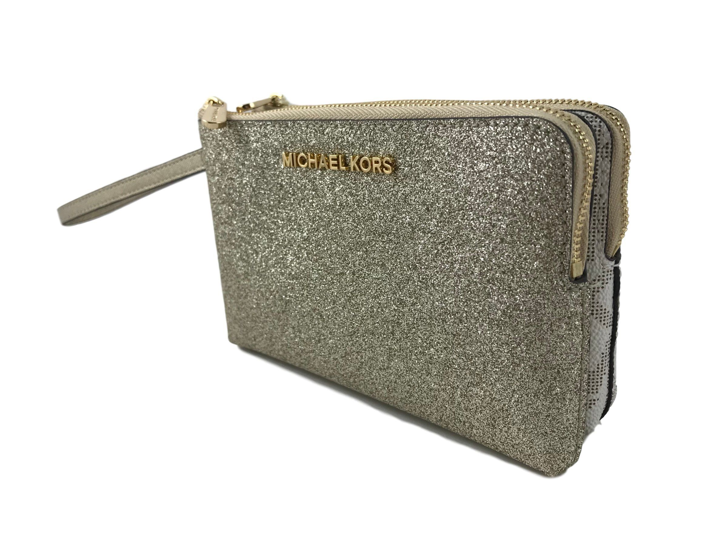 53fb77b8ff9f Michael Kors Jet Set Travel Large Double Gusset Wristlet Bag Vanilla    Check out the image by visiting the link. (This is an affiliate link) 0