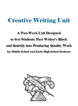 Piece of creative writing units for high school