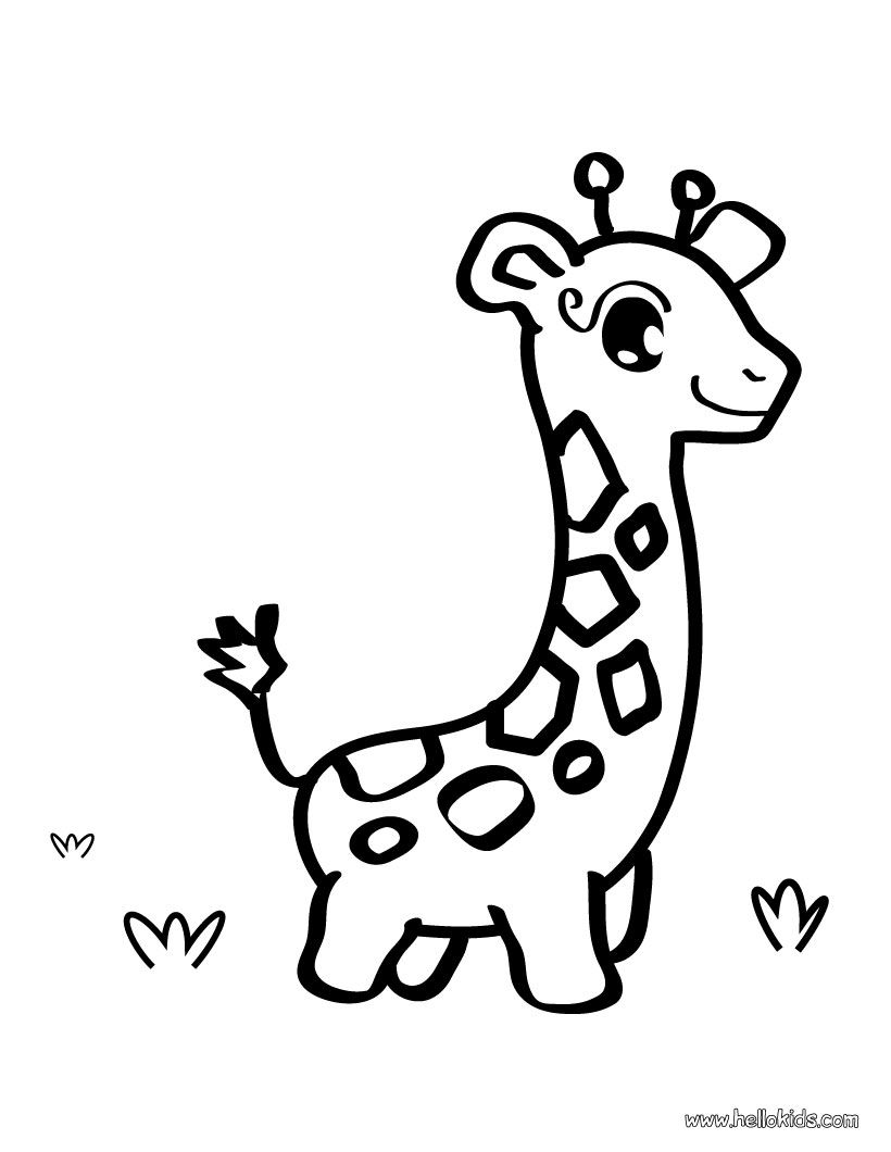 Giraffe toy coloring page -- shape for onesies | Baby shower gift ...