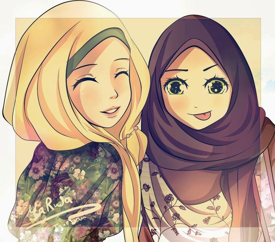 Gambar Kartun Muslimah Yang Cantik Top Gambar