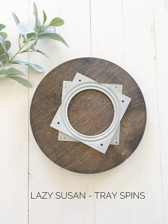 Lazy Susan Personalized Initial Wood Kitchen Table Lazy Susan Lazy