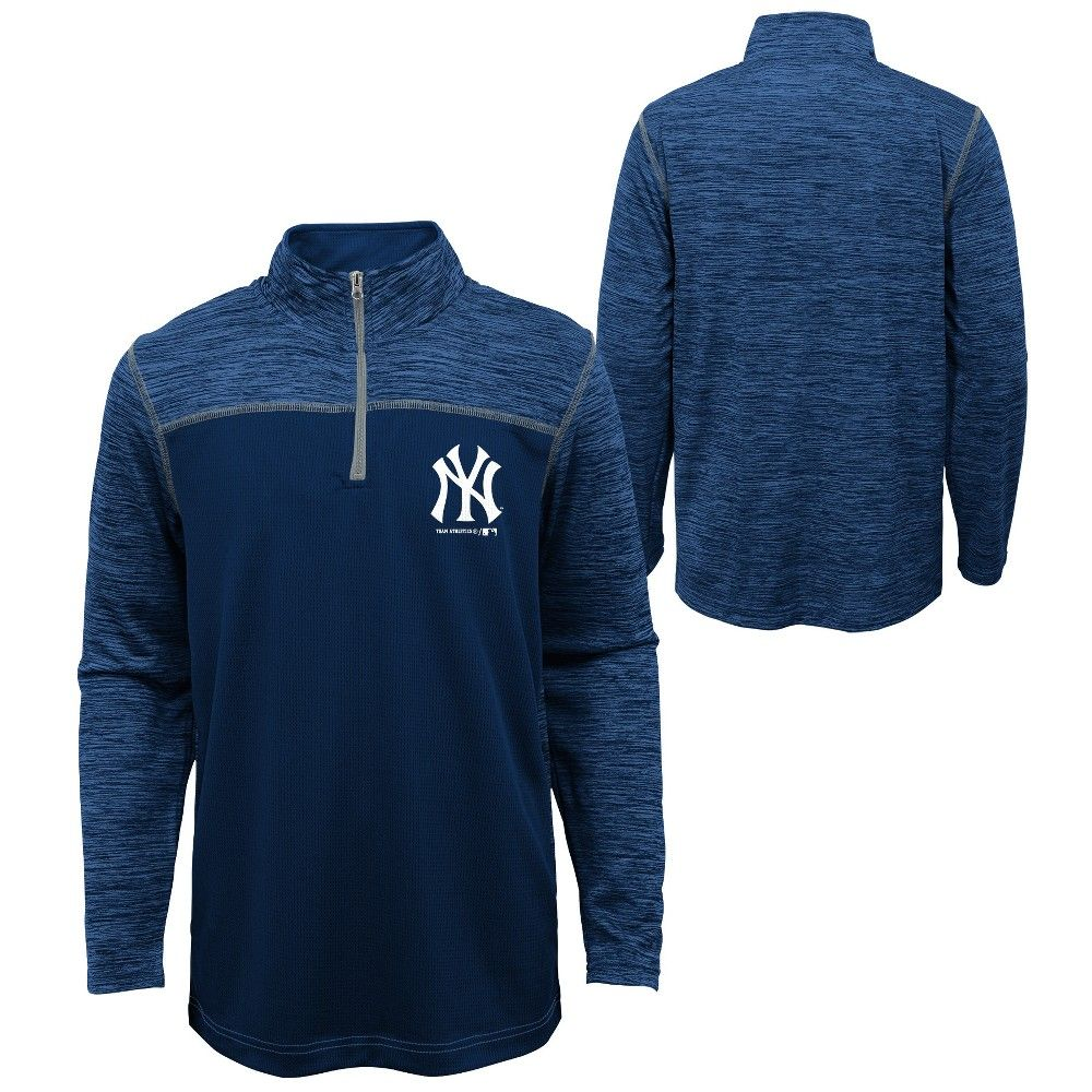 Mlb New York Yankees Boys In The Game 1 4 Zip Sweatshirt S Size Small Multicolored New York Yankees Sweatshirts Sport Outfits