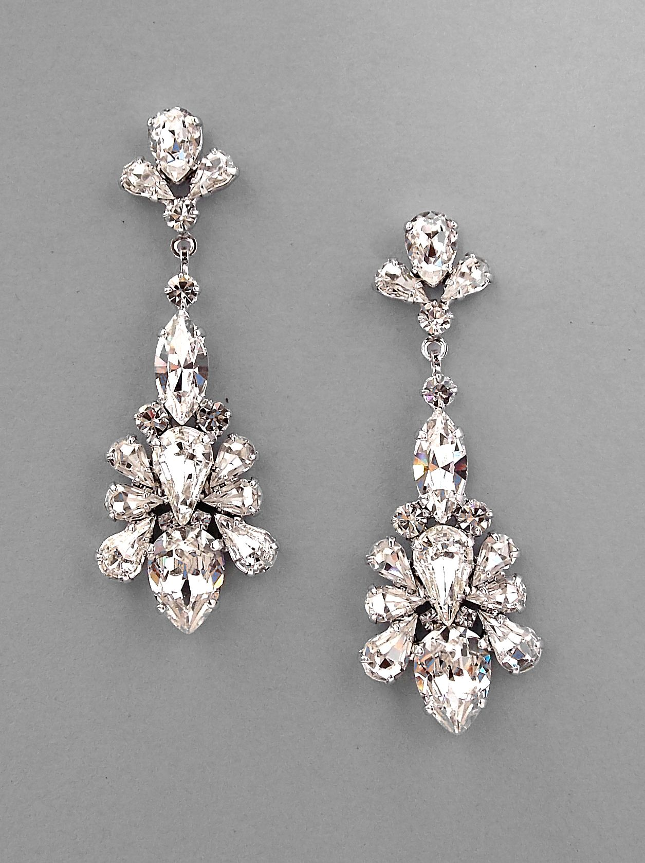 Long Chandelier Earrings Caprice Wedding Jewelry Crystal