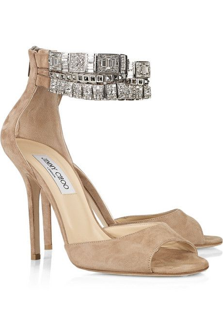 566da1287e4 Jimmy Choo Vivid crystal-embellished suede sandals