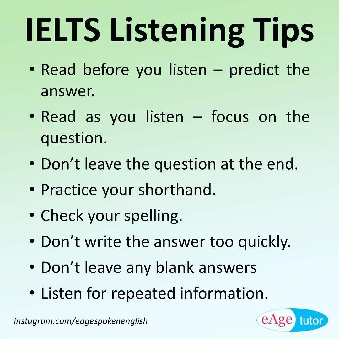 Ielts Listening Tips Ielts Listening