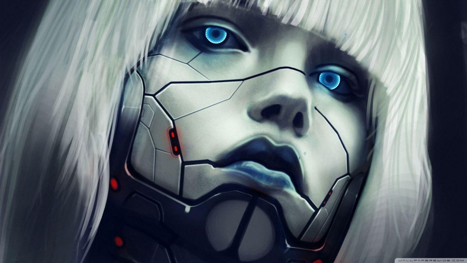 Robot Face Hd Desktop Wallpaper High Definition Mobile Cyberpunk Art Cyborg Girl Cyberpunk