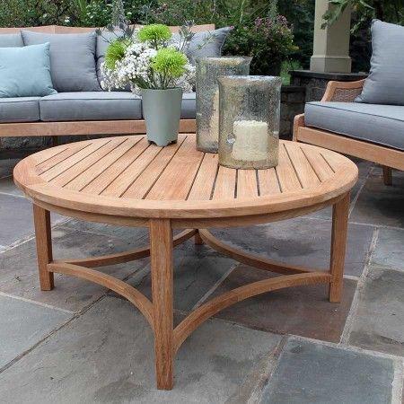 Berwick Round Coffee Table Teak Outdoor Coffee Table Round Coffee Table Round Coffee Table Decor