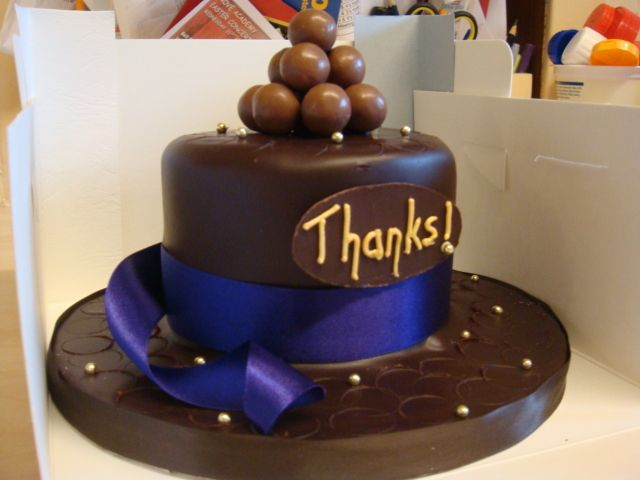 Chocolate Thankyou Cake Cake Celebration Cakes Cake Design