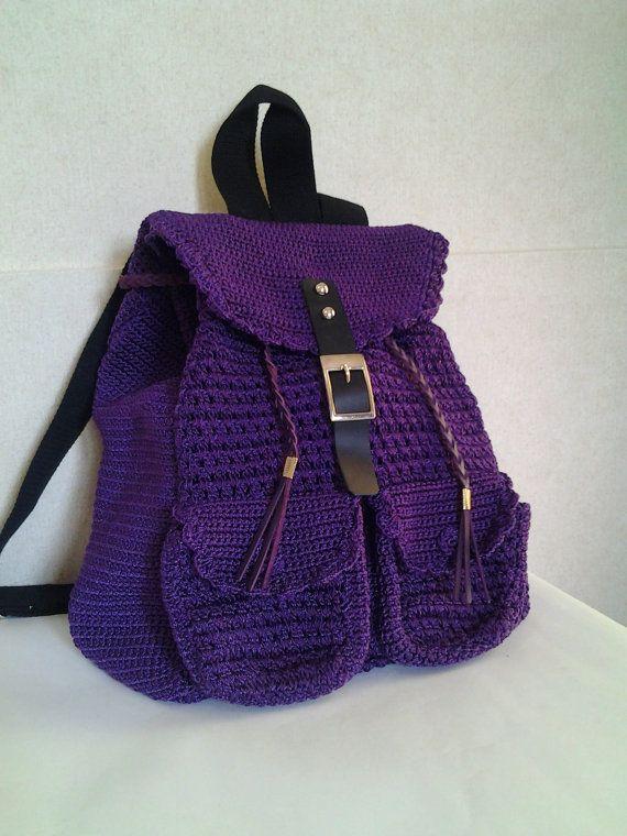 Crochet …Bags Crochet Mochila Mochi… Mochila Morado XiuPkZO