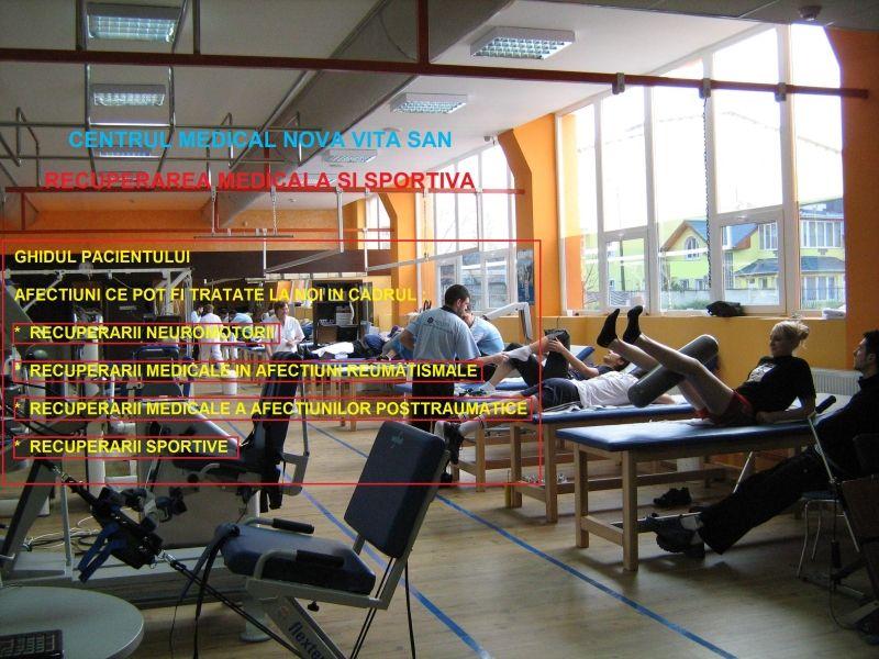 Recuperare sportivă Centrul Medical NOVA VITA SAN Nova