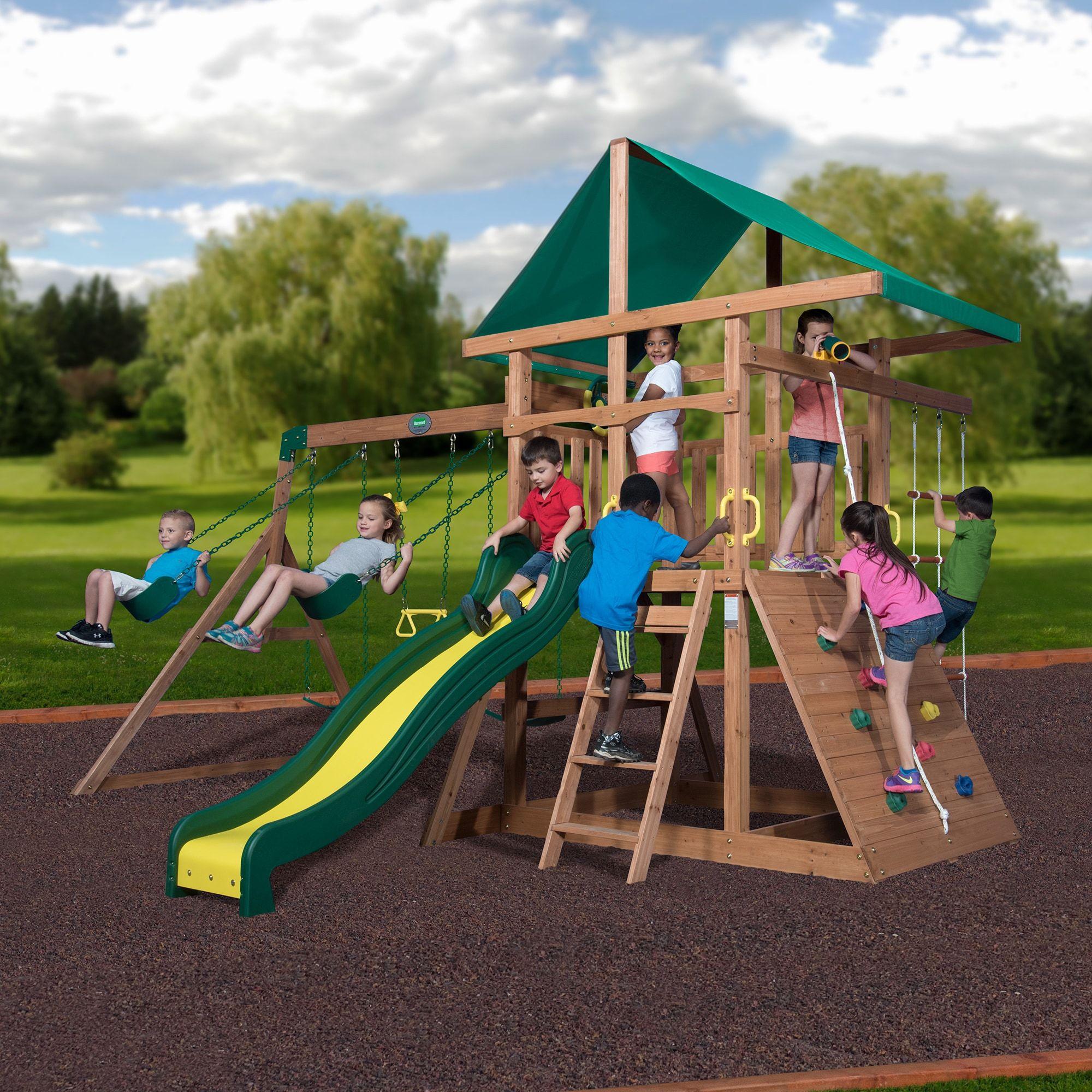 Shop Backyard Discovery 1715011 Mount Mckinley All Cedar Wood Swing