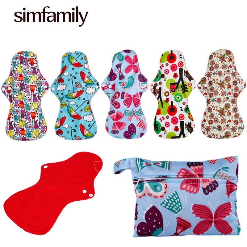 24.79$  Watch now - http://alidcd.shopchina.info/1/go.php?t=32808247233 - [simfamily] 7+1 Heavy Flow Menstrual Pads+1 Pcs Mini Wet Bag,Waterproof Reusable For Pads And Wet Bag higiene feminina  #shopstyle