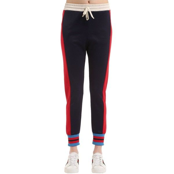 7468913ea4e Gucci Women Printed Jersey Track Pants ( 725) ❤ liked on Polyvore featuring  activewear