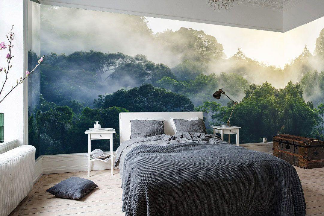 Rain Forest Mural, Mountain Rainforest Mural, Misty