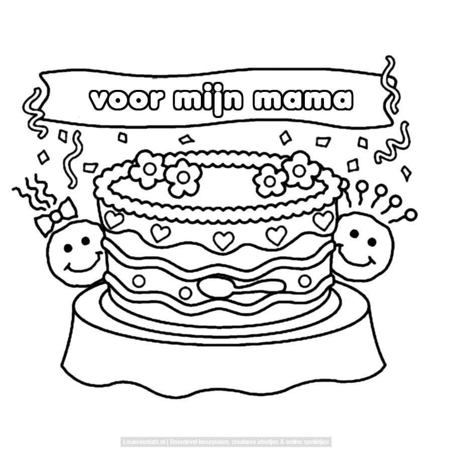 Bekijk Voor Mijn Mama Kleurplaat Coloring Pages Cards Snoopy