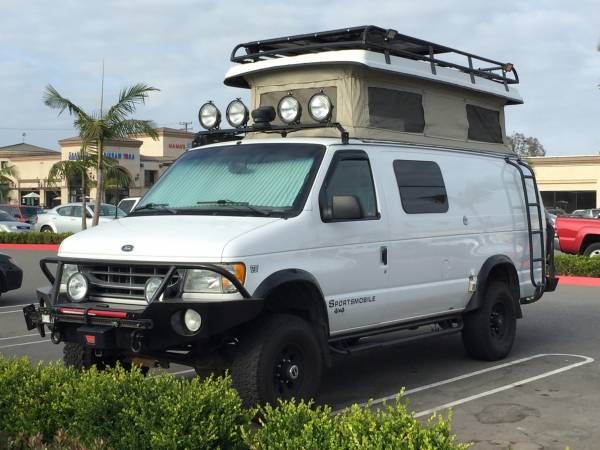 Used Rvs 2002 Ford E350 Sportsmobile 4x4 Camper By Owner Camping
