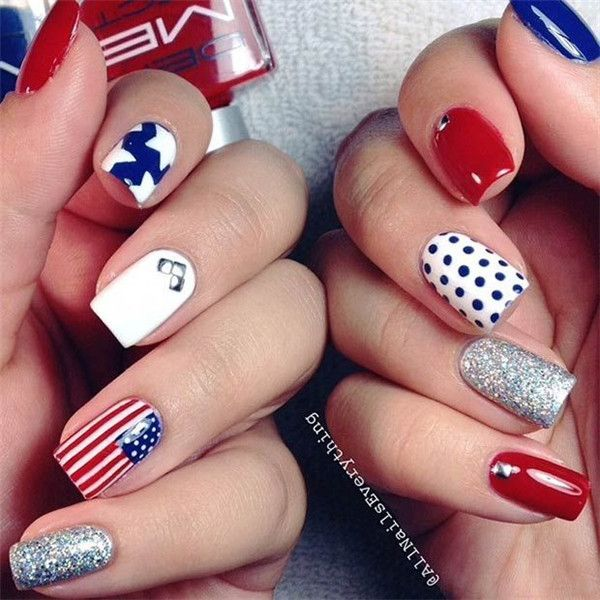 Different Patterns Nail Design For 4th Of July Nail Stuff
