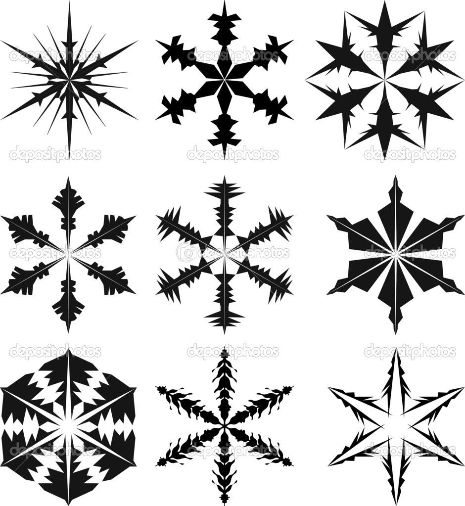 Christmas Snowflake Silhouettes Silhouette christmas