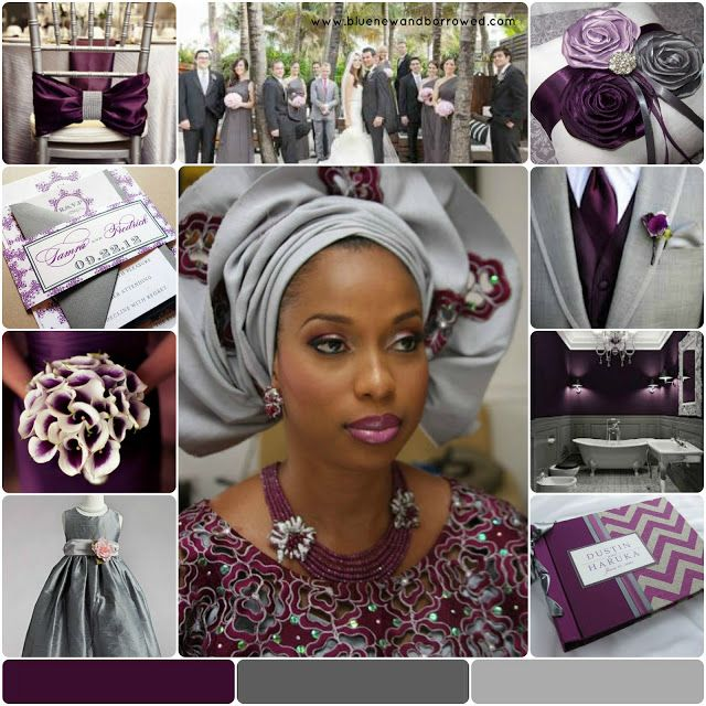 wedding colors plum gray wedding color inspiration