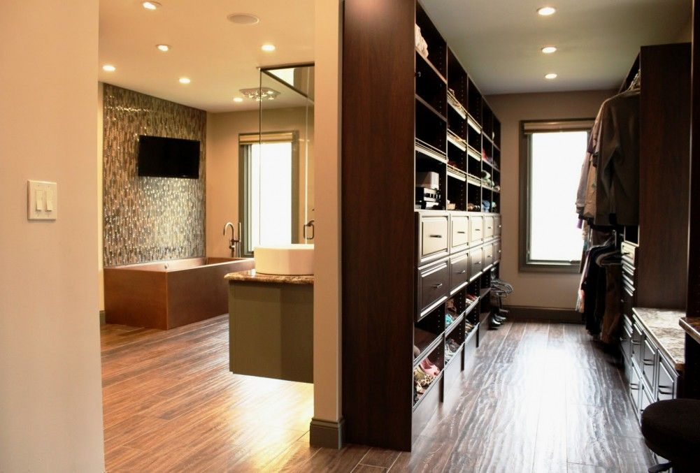 Pin By Michelle Knapp On Dream Home Inspiration Pinterest Fascinating Bathroom And Walk In Closet Designs