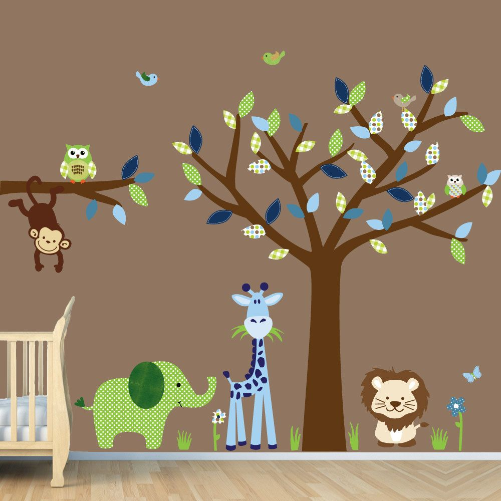 New Childrens Nursery Decals Safari Wall Decals Elephant Lion - Jungle themed nursery wall decals