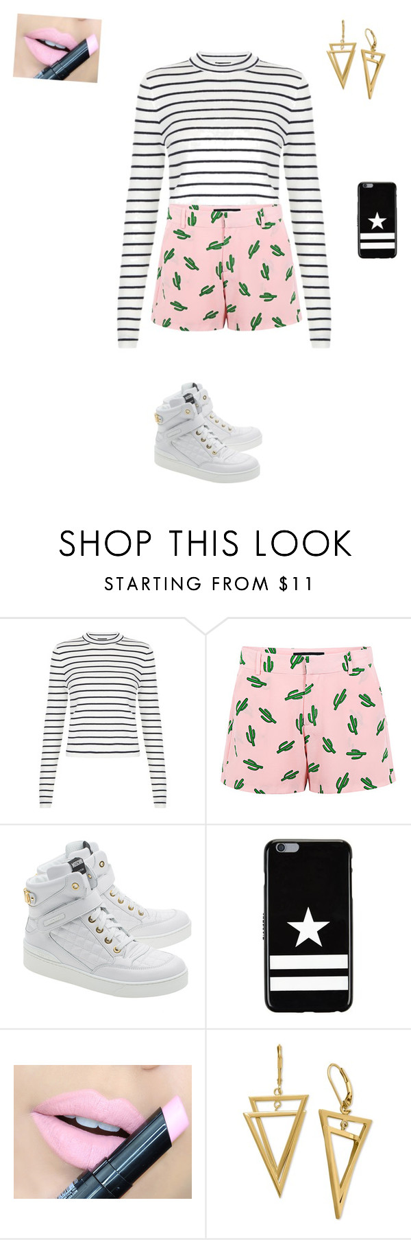 """""""Too painful"""" by myghostbusters ❤ liked on Polyvore featuring American Retro, Moschino, Givenchy, Fiebiger, women's clothing, women, female, woman, misses and juniors"""