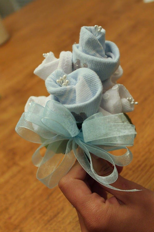 socks baby sock corsage grandma to be baby shower corsages baby