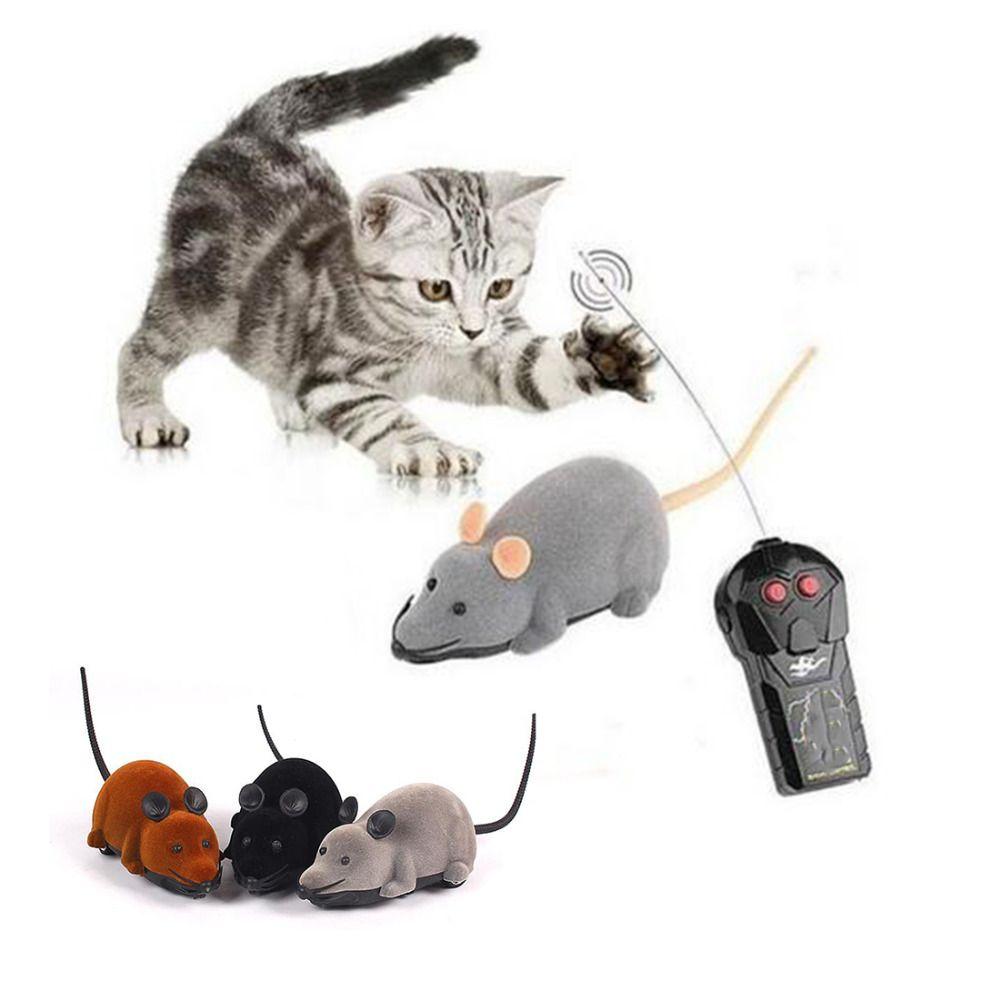 Moda Gatto Divertente Giocattoli Del Cane di Telecomando Mouse Simulazione Giocattoli Per Bambini Orecchie di Colore Casuale