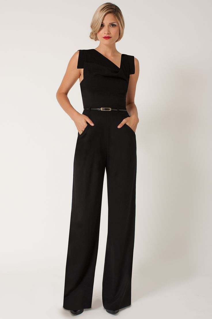 image result for formal black jumpsuits