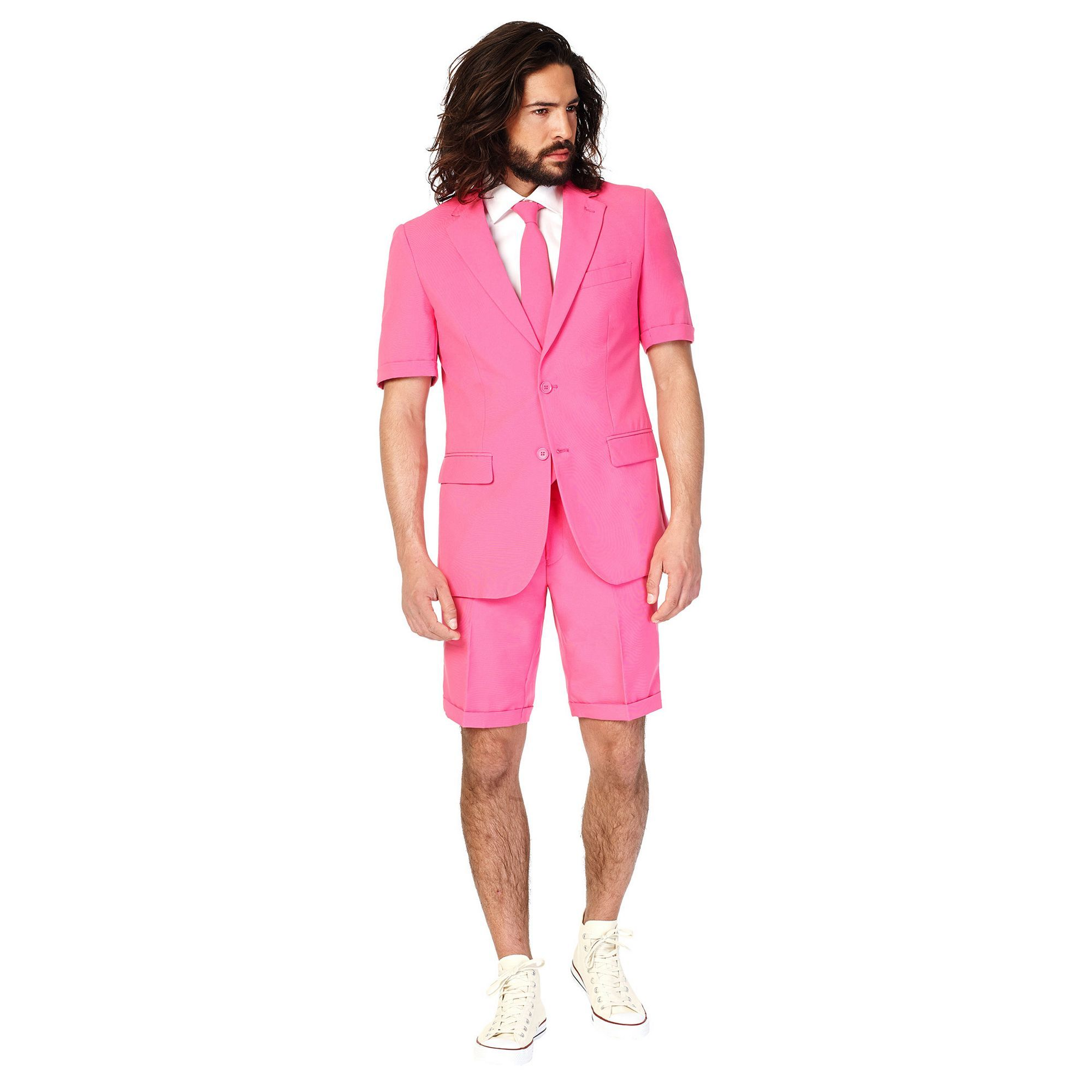 Opposuits Men\'s OppoSuits Slim-Fit Mr. Pink Suit & Tie Set