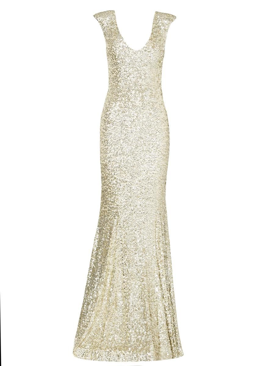 Gold issy long dress clothing rachel gilbert gorgeous