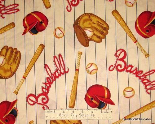 Vintage Retro Baseball Stripe Bat Glove Mitt Base Ball