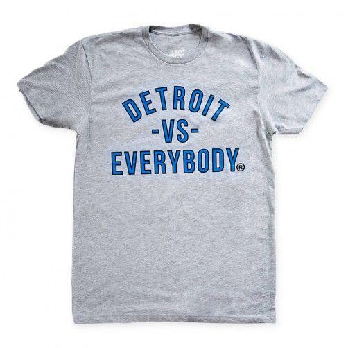 Grey Blue Black Lions Pride Detroit Vs Everybody Original