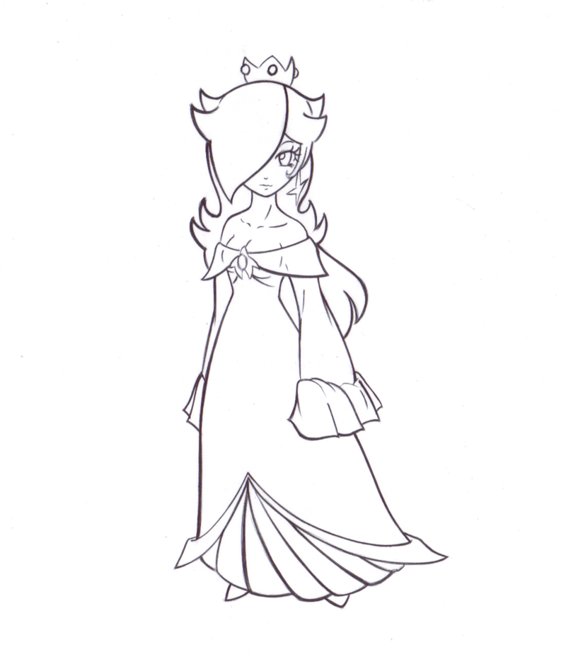 Rosalina Mario Coloring Pages. Princess Rosalina Coloring Pages  p r i n t s Pinterest
