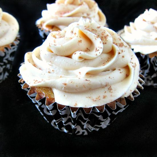 """White Russian Cupcakes -- who wouldn't love a dessert whose description uses the words """"involves a lot of Kahlua""""?"""
