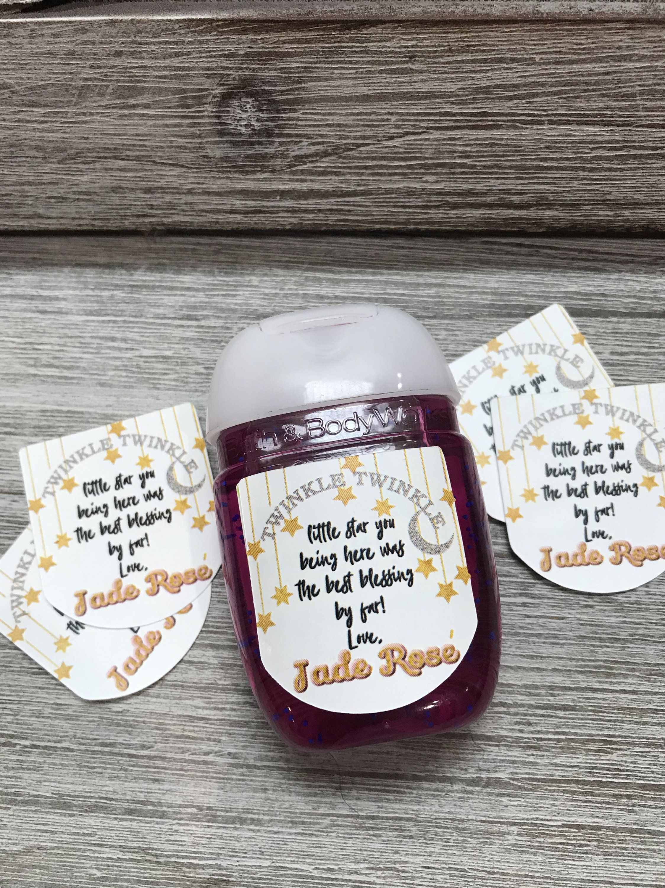 Labels Only Hand Sanitizer Labels Twinkle Twinkle Little Star