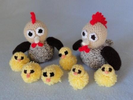 Amigurumi modele gratuit crochet poule animaux p ques diy general pinterest amigurumi - Poussin en pompon ...