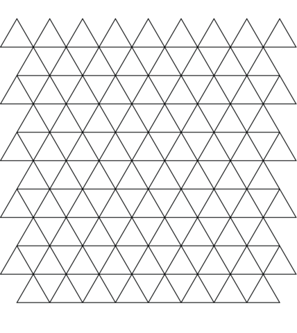tessellation with triangle coloring page - Triangle Instrument Coloring Page