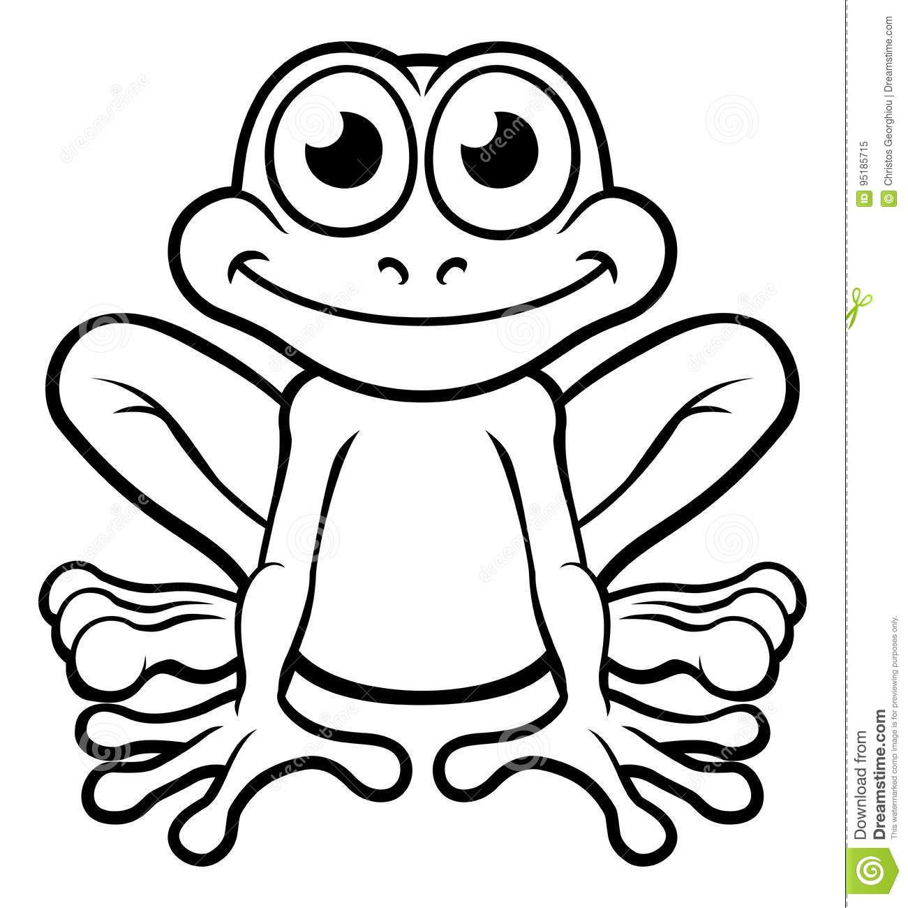 Image result for cute frog clipart black and white Frog
