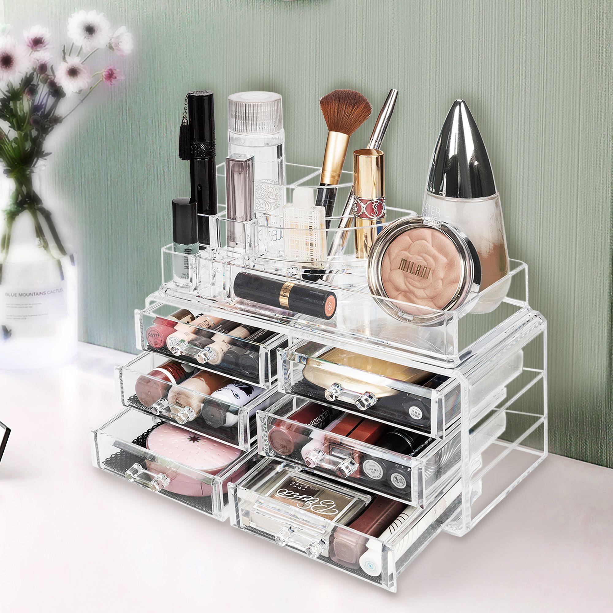 Acrylic Jewelry Makeup Cosmetic Organizer Case Display
