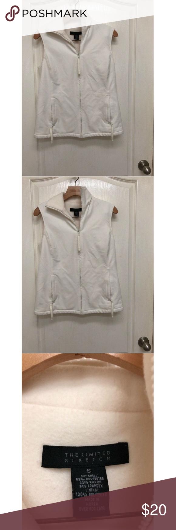 The limited womens fleece lined zip vest size s my posh picks